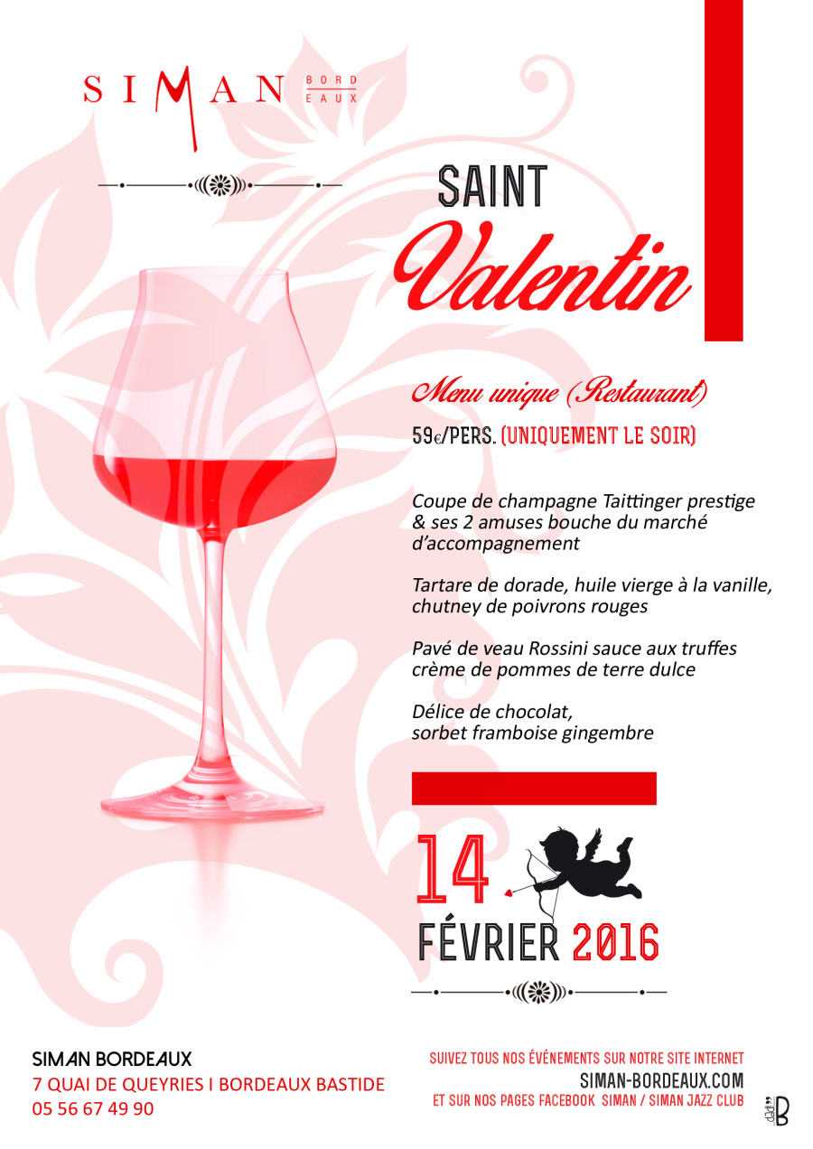 Saint Valentin  Restaurant Bordeaux