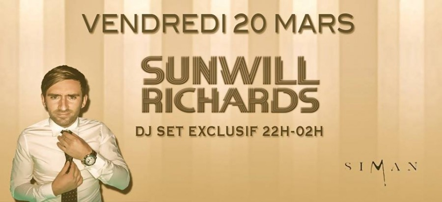 SUNWILL RICHARDS // VENDREDI 20 MARS