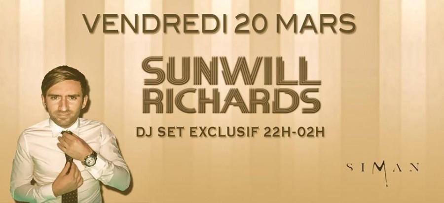 SUNWILL RICHARDS // VENDREDI 20 MARS
